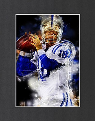 "Peyton Manning - Denver Broncos #4 Exclusive Artwork by ""Fantics"" 8x10 Matted to"