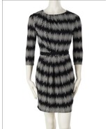 Tart Collections Three Quarter Sleeve Dress Icicle Black/White Large - $21.26