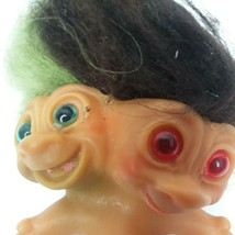 Vintage Uneeda 1960s Two Headed Troll Doll Green and Black Hair Approx. ... - $152.99