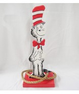 """Cat in the Hat Handmade Ring Toss Game 20"""" Tall Wood Cut Out Two Rope Ri... - $29.69"""