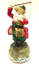 Fly Fishing Santa Musical Figurine Have Yourself A Merry Little Christm... - $30.68