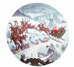 Lenox Santa's Journey Party Plates Set Of 4 New In Box - $59.39