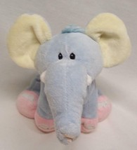 "Wishpets BABY BLUE EMMA THE ELEPHANT RATTLE 9"" Plush STUFFED ANIMAL Toy - $14.85"