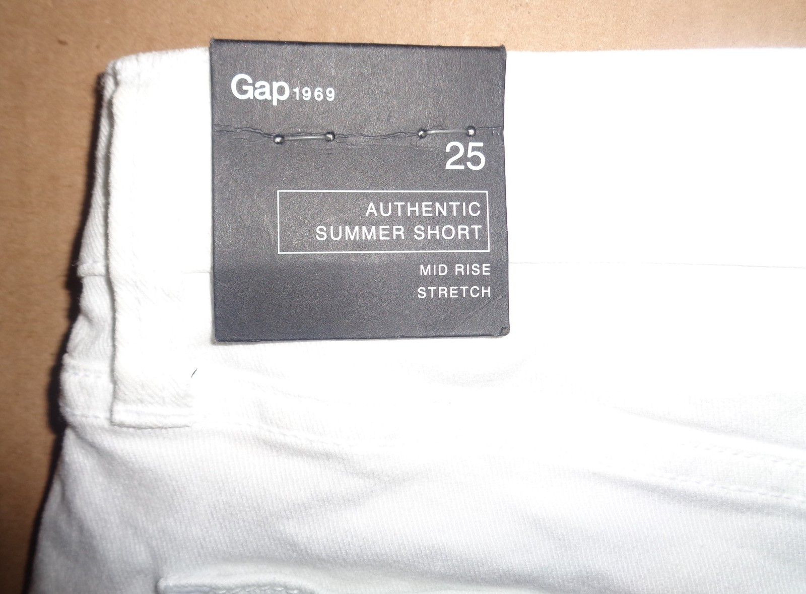 GAP Authentic Summer Short Mid Rise Stretch SZ 0 NWT White