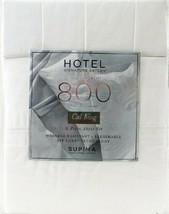 Hotel Signature Sateen 800TC 6 Piece Cal King Sheet Set 100% Cotton White - $112.99