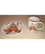 SAKURA SANTA'S MAGICAL COOKIES COFFEE MUG & PLATE CHERYL ANN JOHNSON CHR... - $14.99