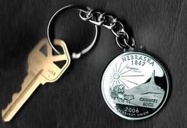 State of NEBRASKA Quarter Keychain Key Chain - $5.88