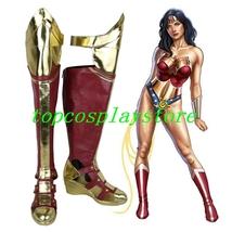 Batman v Superman Dawn of Justice Wonder Woman Diana Prince Cosplay shoes boot 3 - $65.00