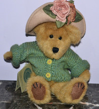 """Boyds Bear Mrs Trumbull 57253-11 Green Sweater with Hat 9"""" Seated with Tag - $9.74"""