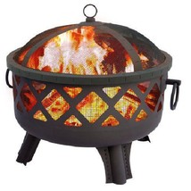 Landmann Wood Firepit Sarasota Garden Lights Outdoor Patio Deck Fireplace  - $141.12
