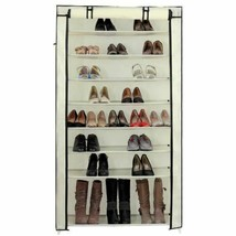 Beige 45 Pair Dustproof Cover Closet Shoe Organizer Storage Rack Boots 1... - $59.30