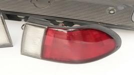 98-99 Nissan Sentra B14 Tail Lights & Center Reflector Panel Carbon Fiber Look image 2