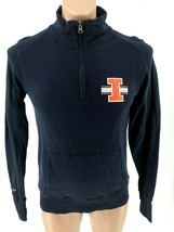 NCAA Illinois Fighting Illini Women Jansport Sweatshirt Medium Blue 1/4 zip - $34.95