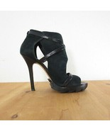 36 / 6 - Camilla Skovgaard Black Suede High Heel Open Toe Strappy Pumps ... - $75.00