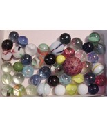 44 VINTAGE AKRO AGATE or GLASS lot of MARBLES F... - $39.55