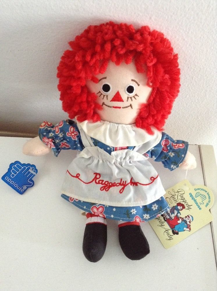 """8"""" Raggedy Ann Doll By Applause With Tags NOS"""