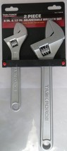 """Task Force 109749 2 Piece Adjustable Wrench Set 12"""" And 8"""" - $7.43"""