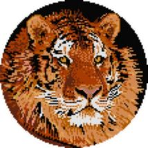 "Latch Hook Pattern Chart: READICUT #105 SIBERIAN TIGER 34"" x 34"" rnd - E... - $6.95"