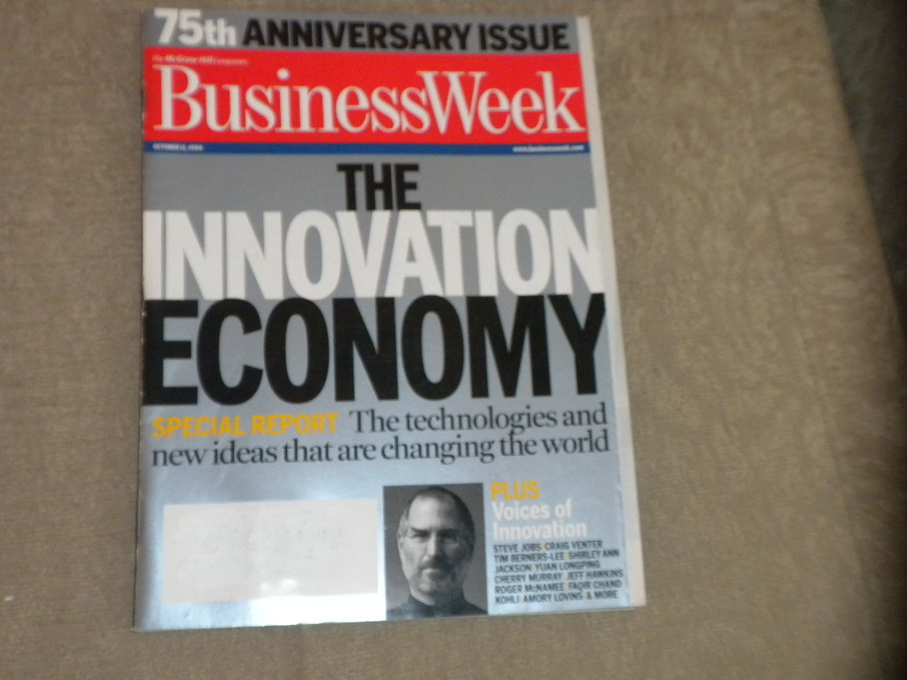 2004 Business Week 75th Anniv issue The Innovation Economy, BW covers by decade