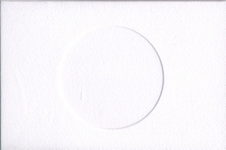 White Round Small Needlework Cards 3.5x5.5 cross stitch