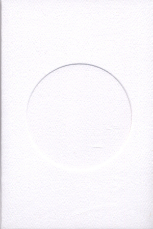 8447 white round opening needlework card
