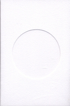 White Round Small Needlework Cards 3.5x5.5 cross stitch - $5.00