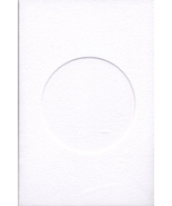 White Round Small Needlework Cards 3.5x5.5 cross stitch - $5.00