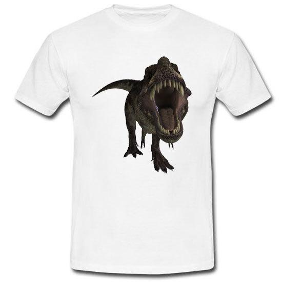Jurassic World Park Tyrannosaurus Rex Roar Movie White Tee T-shirt Size S-3XL for sale  USA