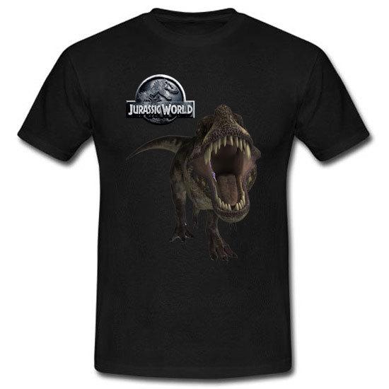 Used, Jurassic World Park Tyrannosaurus Rex Roar Movie Black Tee T-Shirt Size S-3XL for sale  USA