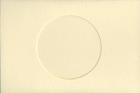 Ivory Round Small Needlework Cards 3.5x5.5 cross stitch
