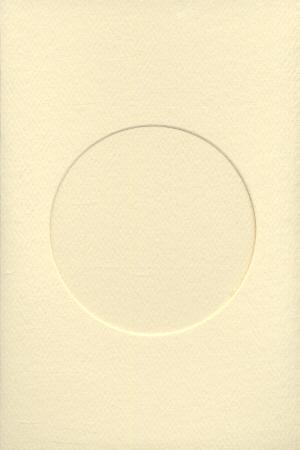 7244 ivory round opening needlework card
