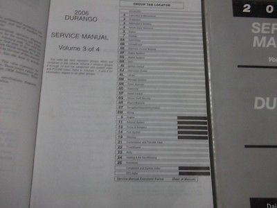 2006 DODGE DURANGO Service Repair Shop Manual Set W ELECTRICAL WIRING DIAGRAM