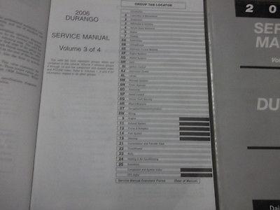 2006 DODGE DURANGO Service Repair Shop Manual Set W ELECTRICAL WIRING DIAGRAM image 4