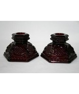 AVON 1876 Cape Cod Collection 1983 Red Candle Holders Set #391 - $22.00
