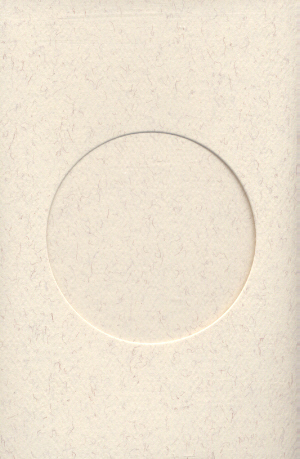5122 parchment round opening needlework card