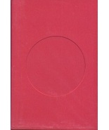 Red Round Small Needlework Cards 3.5x5.5 cross stitch - $5.00