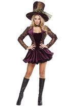 Sexy Roma Tea Party Tease Wonderland Halloween Costume W/WO PETTICOAT S ... - $125.00+