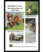 International Harvester IH Cub Cadet Tractor Riding Lawnmower AD 1965 Vi... - $14.99