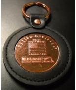 Harley Davidson Key Chain Copper on Black Stitched Leather Miller Lite B... - $8.99
