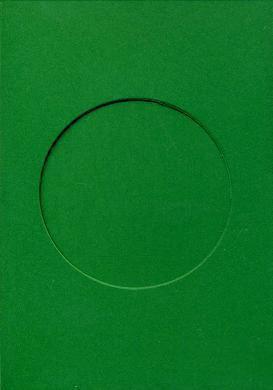 7092 christmas green round needlework card
