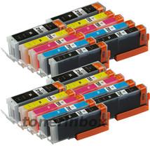 20 Pk PGI250XL CLI251XL Ink Set For Canon Pixma MG5420 MG5520 MG6320 MX7... - $18.98