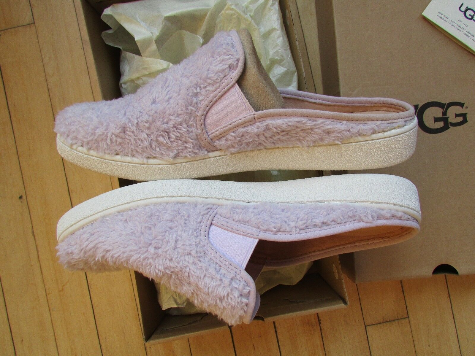 UGG Slippers Luci Slip On Sneakers Lavender fog Size 11 NEW image 3