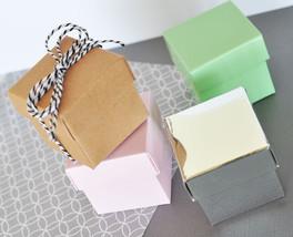 Pink DIY Cube Candy Mint Favor Gift Box Wedding Birthday Bridal Baby Shower - $34.68+