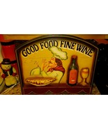 "Italian  RESTAURANT Kitchen DECORATIVE WALL RELIEF WOOD SIGN Art 23"" x 20"" - $39.59"