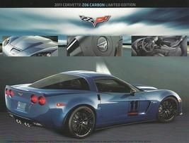 2011 Chevrolet CORVETTE ZO6 CARBON Limited Edition brochure sheet US 11  - $9.00
