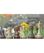 "Reproduction 1950 Dubrovnik Bobby Fischer Chess Set in Sheesham - 4"" S1258 - $225.99"