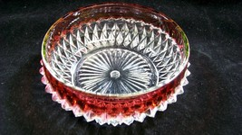 Ruby Flash Diamond Point Fruit/Salad Bowl ~ 5'' - $3.99