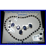 """14k Solid White Gold Faceted Sapphire & Diamond 18"""" Necklace total 44.8c... - $7,900.00"""