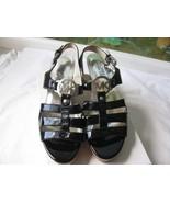 Michael Kors Black Patent Leather Wedge Sandal size 6.5M NEW - $84.14