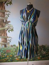 CALVIN KLEIN MUTI-COLOR STRIPED SLEEVELESS WOMEN  DRESS SZ 8 NWT - $54.44